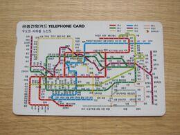 Autelca Phonecard,Metro Lines,used - Korea, South
