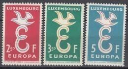 LUXEMBURG  590-592, Postfrisch **, Europa CEPT 1958 - Europa-CEPT