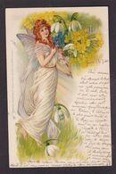 CPA ART NOUVEAU FEMME Femme Girl Women Art Nouveau Circulé Surréalisme - Women