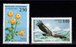 Andorre - YV 420 & 421 N** Faune Et Flore Cote 3,80 Euros - French Andorra