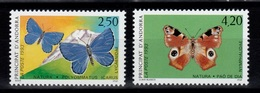 Andorre - YV 432 & 433 N** Papillons Cote 4,20 Euros - French Andorra