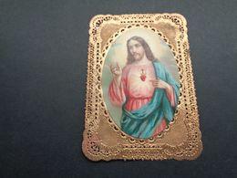 Devotieprentje ( 2213 )  Image Pieuse Religieuse Dentellée Avec Dentelle - Prentje Met Kant - Images Religieuses