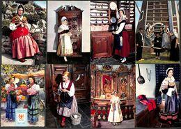 Lot 26 Cartes Costume Folklore France (petit Prix) - Costumes