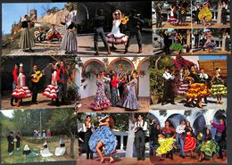 Lot 35 Cartes Costume Folklore Danse Espagne (petit Prix) - Costumes