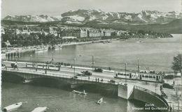 Zürich; Utoquai Und Quaibrücke (Strassenbahn) - Nicht Gelaufen. (Wehrli - Zürich) - ZH Zurich