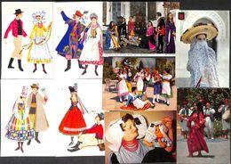 Lot 23 Cartes Costume Folklore Danse Monde (petit Prix) - Costumes