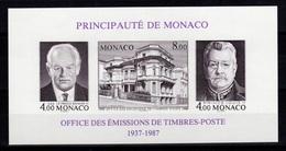 Monaco Bloc Feuillet YV 39a N** NON DENTELE Cote 54 Euros - Blocks & Sheetlets