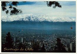 CHILE, SANTIAGO, HERMOSA VISTA PANORAMICA DE LA CIUDAD DESPUÉS DE UM DIA DE LLUVIAS [60157] - Cile