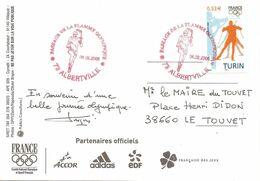 2006 Albertville: Passage De La Flamme Olympique Vers Torino, Jeux Olympiques D'Hiver. - Winter 2006: Torino