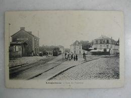 FERROVIAIRE - Gare - LONGJUMEAU - Gare Du Tramway (animée) - Stazioni Con Treni