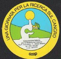 Stikers Associazione Italiana Per La Ricerca Sul Cancro Milano COOP Italian Association Cancer Research FAS00059 - Sammelbilder, Sticker