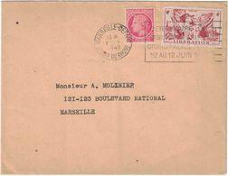 Centenaire Du Timbre Poste Française - Marseille Départ - Juin 1949 - Marcofilia (sobres)