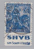 FRANCE :  Jeanne D'Arc 50c Pub SHYB SON SHAMPOING (o) - Publicités