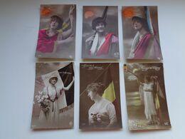 Beau Lot De 20 Cartes De Fantaisie Femme Militaire  Drapeau       Mooi Lot Van 20 Postkaarten Militair Vlag Vrouw - 5 - 99 Postcards