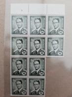 België/Belgique 1967 - 10 X M 1** Avec N° De Planche (3) - Military (M Stamps)