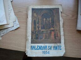 Kalendar S V Ante 1934 - Libri, Riviste, Fumetti