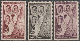 1938 :-: 2° Raid Aèrien Transpolaire Moscou - Saint Jacinthe (Canada) - Série Complète Neuve * - - 1923-1991 USSR