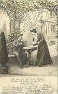 AK Liebespaar In Der Gartenlaube - Golddruck - 1902 Mindelheim #51 - Couples
