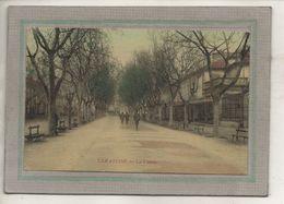 CPA - (13) TARASCON - Vue Du Cours Dans Les Années 20 / 30 - Carte Colorisée D'aspect Toilé - Tarascon