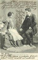 AK Liebespaar Im Gespräch - 1905 München #52 - Couples