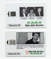 """2 Télécartes 50 Unités """"sida Info Service"""" - Telefonkarten"""