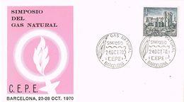 37202. Carta BARCELONA 1970. Simposium CEPE, Gas Natural - 1931-Heute: 2. Rep. - ... Juan Carlos I
