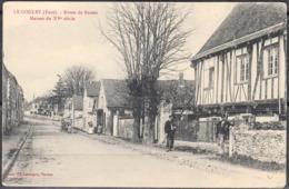 27  LE GOULET      CPA    Route De Rouen   Maison Du XVe Siècle     ANIMEE   Non écrite - Sonstige Gemeinden