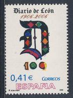 "Spain Espana 2006 Mi 4122 ** Cent. Diario De León (1906) -  Initiale ""D"" - Daily Newspaper / Tageszeitung / Journal - 1931-Heute: 2. Rep. - ... Juan Carlos I"