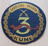 3. GARDIJSKA BRIGADA KUNE OSIJEK 3. Guards Brigade 3. Brigade De La Garde Croatia Army Armee PATCH - Patches