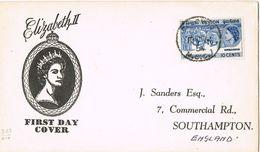 37204. Carta COLOMBO (Cylan) Sri Lanka 1954. Royal Visit Queen Elisabeth II - Sri Lanka (Ceylon) (1948-...)