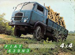 "09259 ""AUTOCARRO FIAT 619N3 - 4X4 - 1969"" VOLANTINO ORIG. - Trucks"
