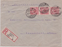 Germany-1924 Postage Paid 30 Pf On Frankfurt Registered Letter Local Cover - Deutschland