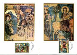 Serie Nº 2446/7 Navidad Tarjeta Maxima - Tarjetas Máxima