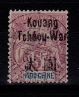 Kouang Tcheou - YV 16 Type Groupe Serie Grasset , Très Bien Oblitéré Cote 230 Euros , Trés Rare - Kouang-Tcheou (1906-1945)