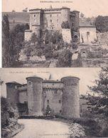 2 Cpa De CHALMAZEL (Loire) - Le Château - Andere Gemeenten
