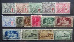 BELGIE   1934  Nr. 394 - 399 / 401 - 403 / 404 - 406 / 407 - 409    Gestempeld   CW 48,80 - Gebraucht