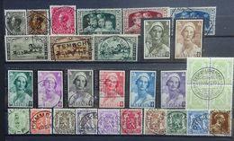 BELGIE   1934  Nr. 401 - 403 / 404 - 406 / 407 - 409 / 411 - 418 / 418 A - 426 + 427    Gestempeld   CW 23,00 - Gebraucht