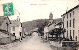 Carte 1911 RADDON / GRANDE RUE - France