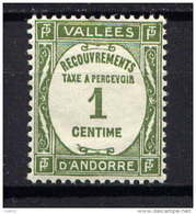 ANDORRE - T16** - RECOUVREMENT - Postage Due