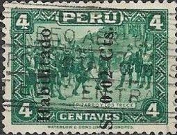 PERU 1952 Pizarro And The Thirteen Surcharged - 2c. On 4c - Green AVU - Peru