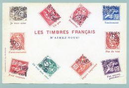 FRANCE   PAP   Carte Postale   Cadeau De La Poste 2020  Avec  Timbre Neuf   International.   LES TIMBRES FRANCAIS - Frankrijk