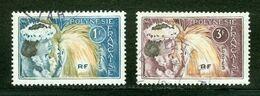 Polynésie Française / French Polynesia; Scott # 208 + 209; Usagés (3355) - Polinesia Francese