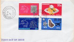 SOBRE 1r.DIA CENTENARIO UPU, 1974, BARBADOS. MICHEL 381-384 - Bahamas (1973-...)