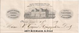 LAC PC OBERNAI Bas Rhin MOHLER & FILS, Cravates, Chales, Tapis, Couvertures...ENTETE - 1849-1876: Classic Period