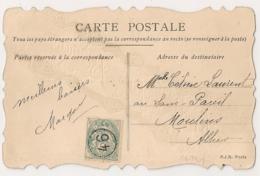 PARIS JOUR DE L'AN 46 Sur CP Pour MOULINS. - Storia Postale