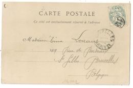PARIS JOUR DE L'AN 118 Sur CP Pour BELGIQUE. Arrivée JANV 1904. - 1877-1920: Période Semi Moderne