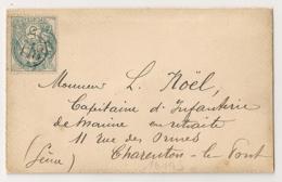 PARIS JOUR DE L'AN 118 Sur Enveloppe Pour CHARENTON LE PONT. - 1877-1920: Période Semi Moderne