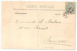 PARIS JOUR DE L'AN 23 Sur CP Pour PARIS XVIII. 1905. - Storia Postale