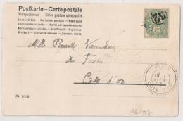 PARIS JOUR DE L'AN 32 Sur CP Pour FIXIN Cote D'Or. Arrivée 1 JANV 1903. - 1877-1920: Période Semi Moderne
