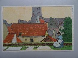 """Carte Postale Amédée Lynen """"De-ci De-là"""" N° 3 Nivelles La Tricoteuse - Lynen, Amédée-Ernest"""